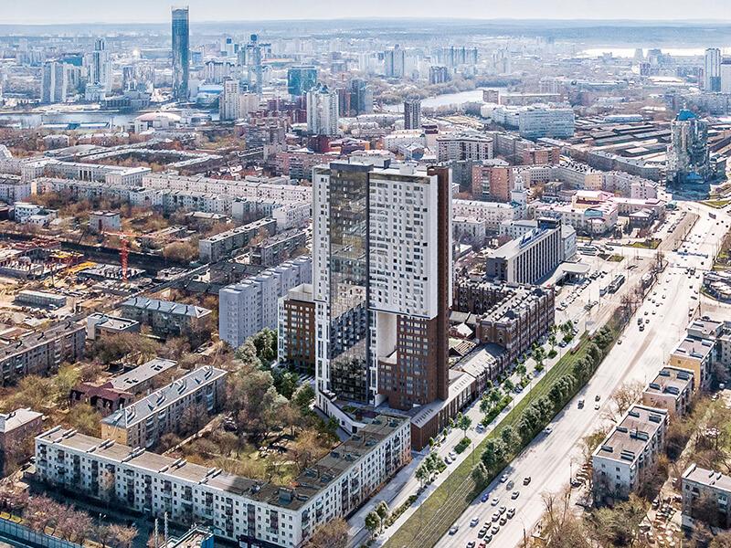 Виды на центр Екатеринбурга с высоты 36 этажа жилого квартала «Мельница»