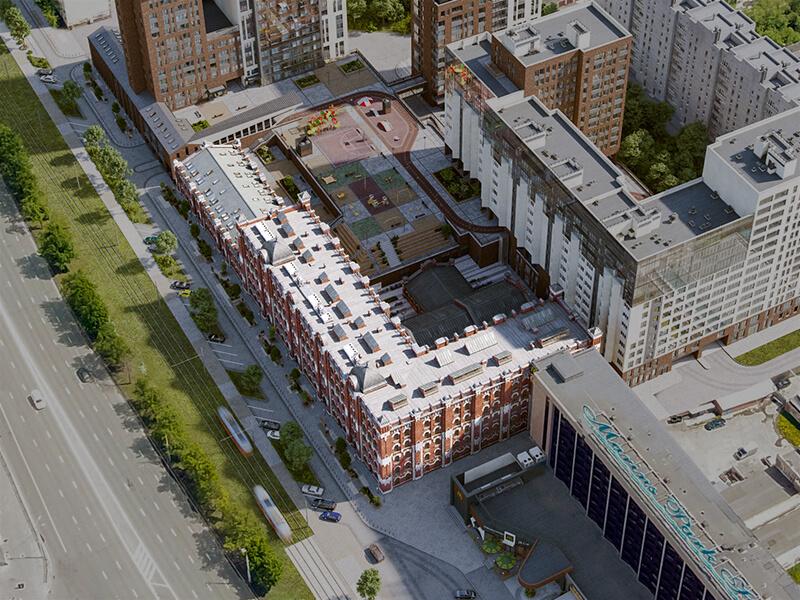 Этапы строительства здания Мельницы