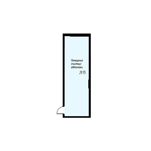 Схема помещения автомойки в жилом квартале Мельница