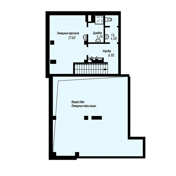 Схема 1 этажа 1 очереди паркинга жилого квартала Мельница