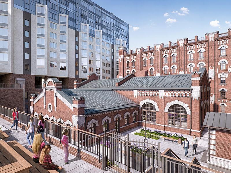 Архитектура жилого квартала Мельница